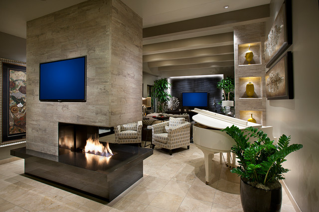 North Scottsdale Home Contemporary Living Room Phoenix By Debra May Himes Interior
