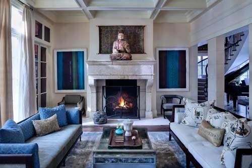 North Shore Estate eclectic-living-room