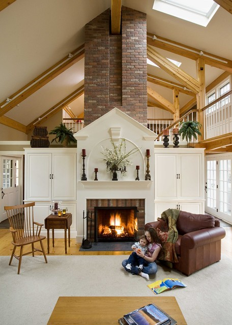 North Shore, MA Post & Beam Living Room Addition eclectic-living-room