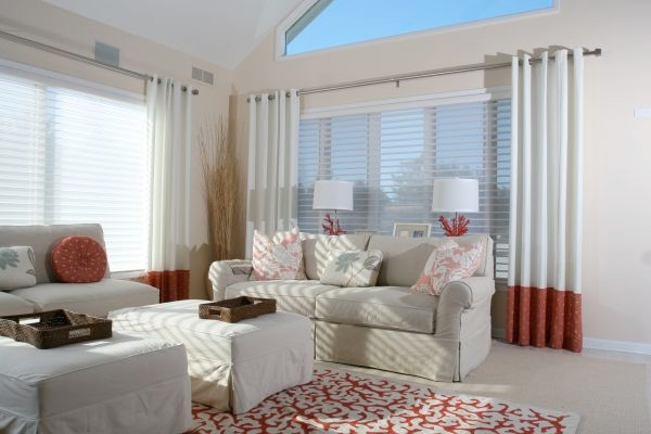 Modern Living Room Window Treatments Home Design