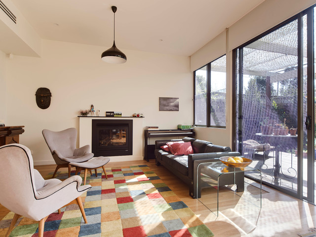 Northcote Additions Light And Bright Contemporary Living Room Melbourne By Rebecca