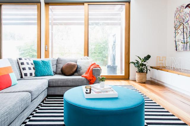 Immagine di un soggiorno design