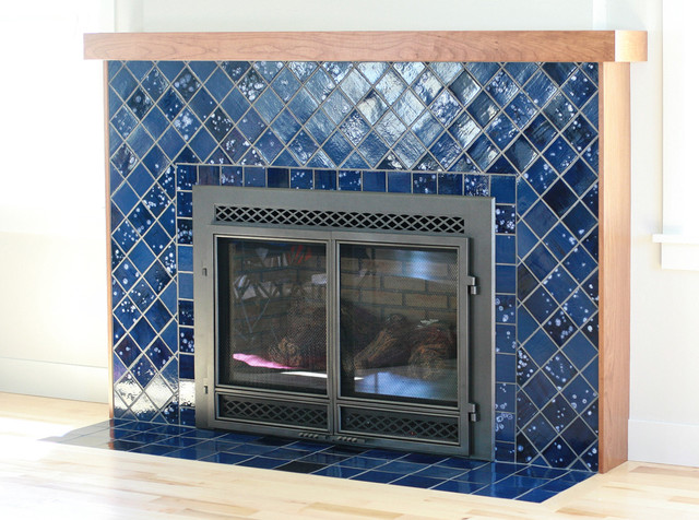 Hayford-Philips Fireplace eclectic-living-room