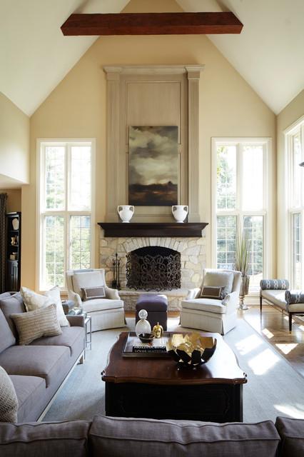 Susan brunstrum of sweet peas design inc · interior designers decorators northshore home redesign american traditional living room