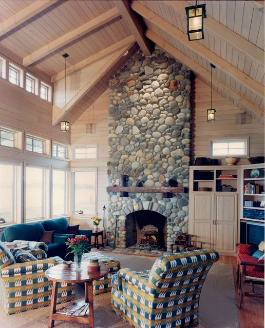 Whidbey Island Cabin traditional living room