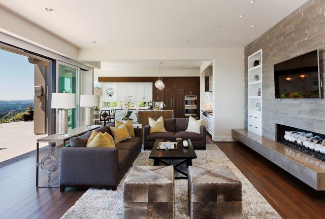 Exceptional Northwest Contemporary Home Contemporary Living Room