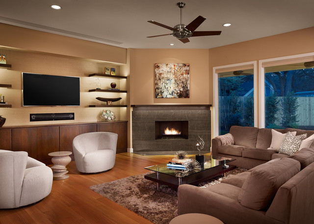 family room with tv and fireplace. northwest hills remodel contemporarylivingroom family room with tv and fireplace houzz