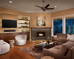 Northwest Hills Remodel contemporary family room