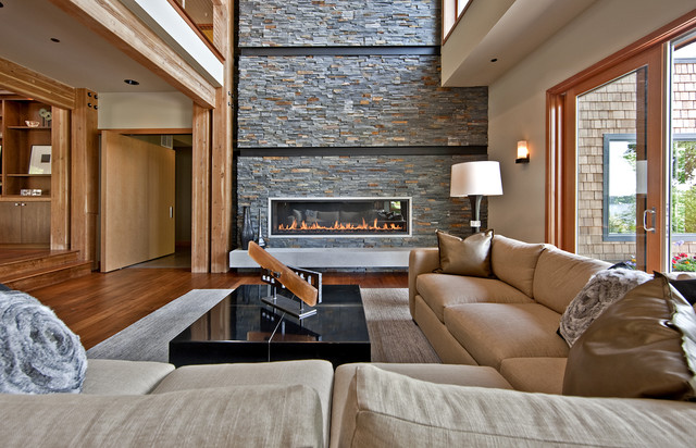 Northwest Territorial Residence contemporary living room