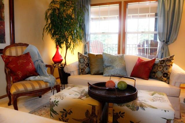 Northwest tropical traditional for Karen linder interior designs