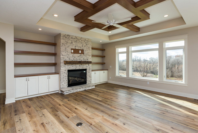Norwalk New Construction farmhouse-living-room