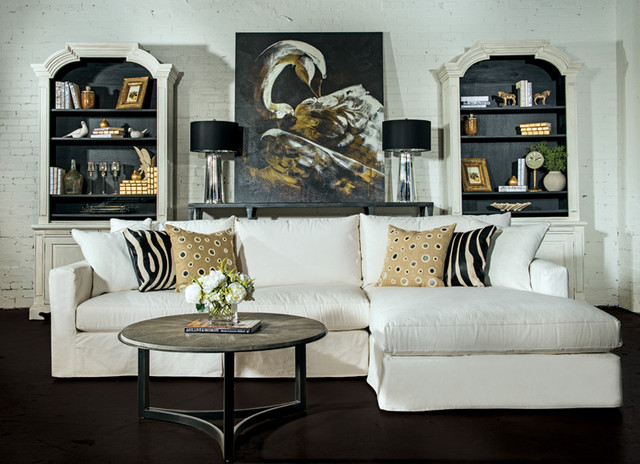 Not so shabby chic eclectic living room by high for Eclectic chic living room