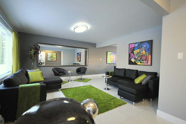 Not your typical Bungalow contemporary-living-room