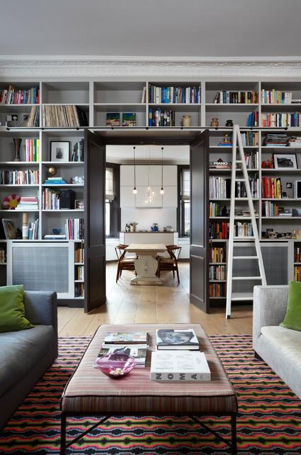 Notting Hill Flat transitional-living-room