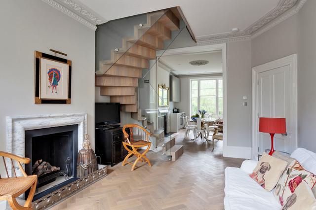 NOTTING HILL MAISONETTE No 1 eclectic-living-room
