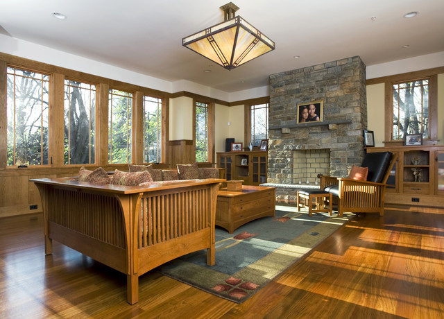 Novack Craftsman Family Room Seattle By Christian