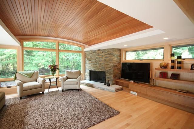 Novi House Contemporary Living Room Detroit By Nancekivell Home Planning Design