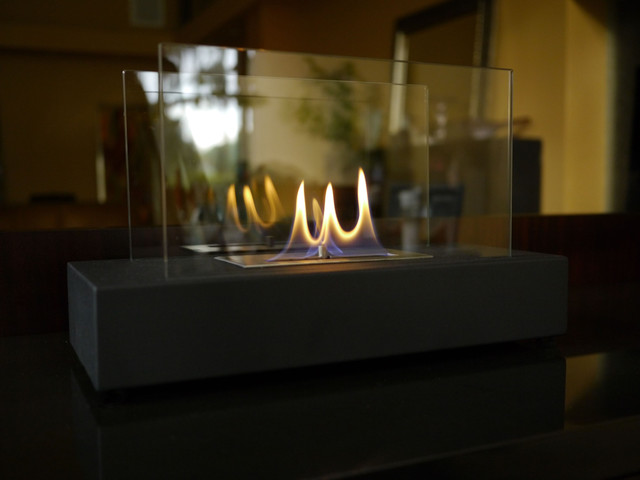 """Incendio"" is a sleek new tabletop/desktop ethanol burning personal fireplace. Chic enough for any executive desk or formal tablescape, Incendio is also the,"