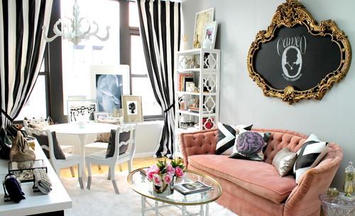 【Houzz】ソファで考える、大人っぽくハイセンスなピンクの使い方 10番目の画像