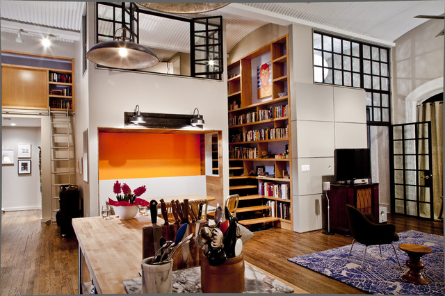 Nyc Loft Contemporary Living Room New York By