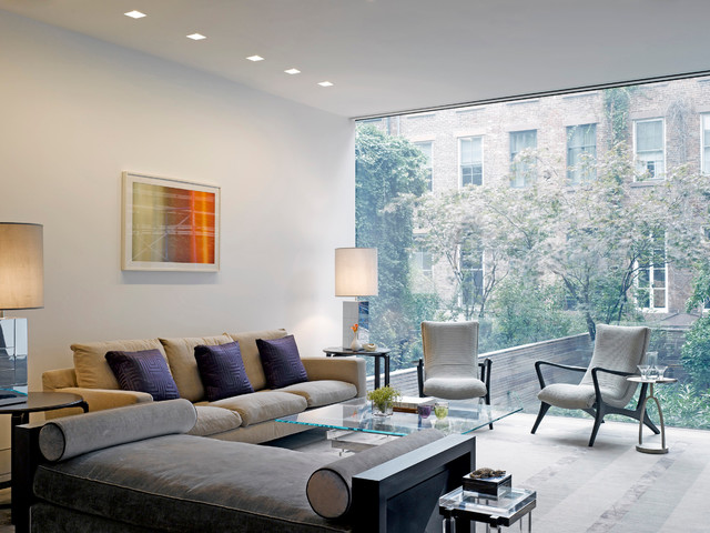Perfect NYC Townhouse Contemporary Living Room