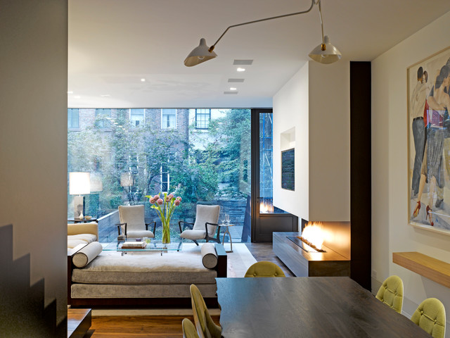 Nyc Townhouse Transitional Living Room New York By