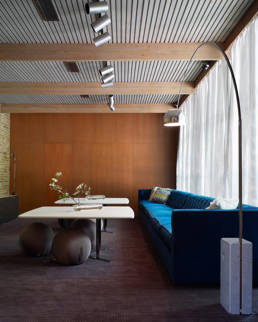 O 39 Neil Ford Interiors Midcentury Living Room Dallas