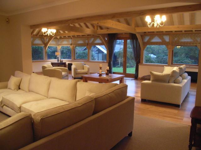 Oak Framed Garden Room traditional-family-room