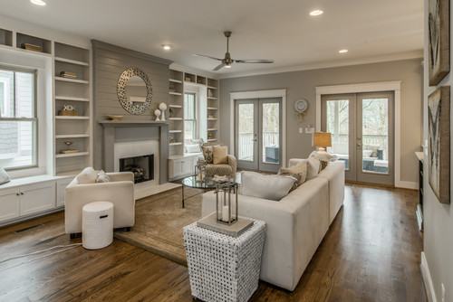Agreeable Gray Living Room : dovetail & agreeable gray