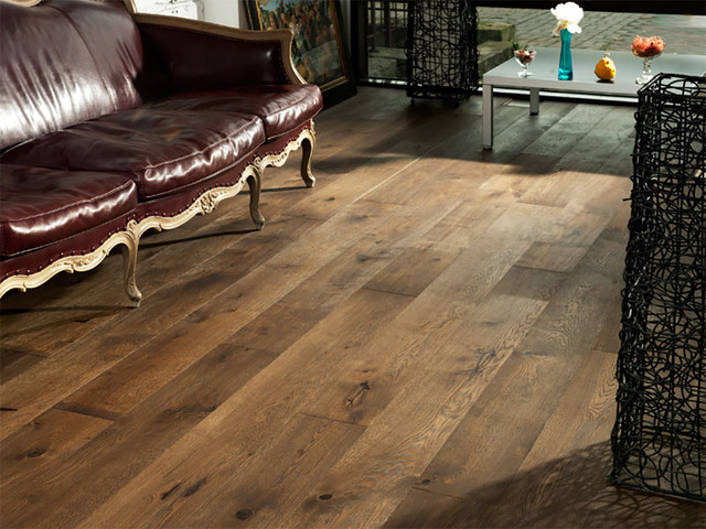Oak Old Venice Wide Plank Flooring Rustic Living Room