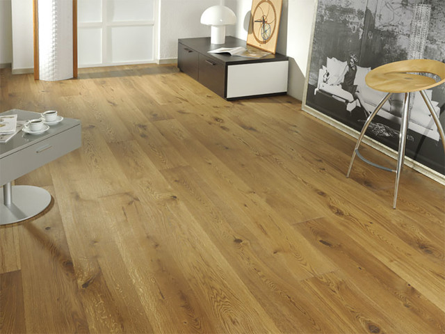 Oak Vienna Wide Plank Flooring Rustic Living Room