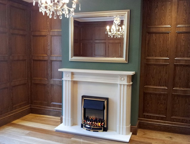 Oak Wall Panelling Traditional Living Room London