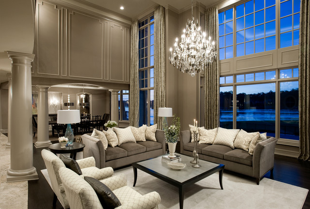 Oakland county new construction traditional living for Interior design oakland