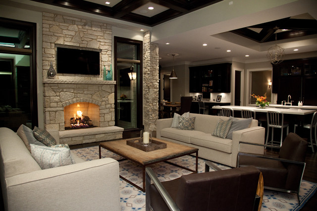 contemporary living room by Oakley Home Builders