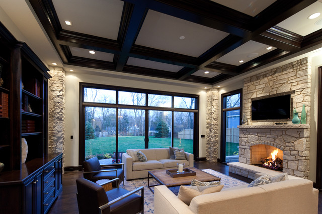 Oakley Home Builder contemporary-living-room