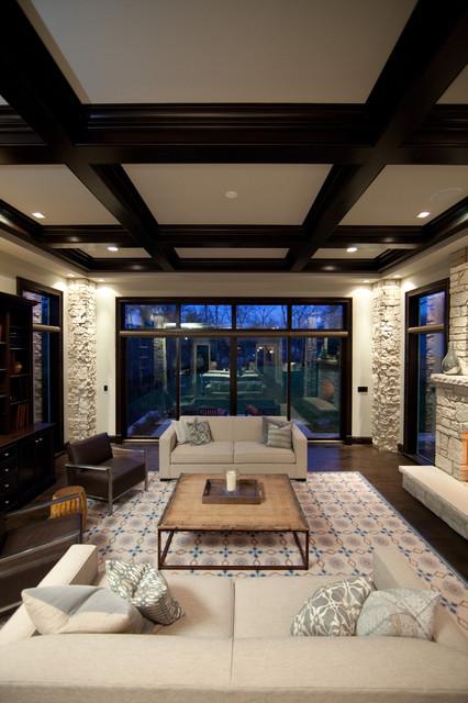 Oakley Home Builder contemporary-living-room