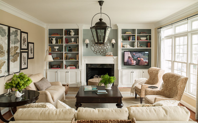 Oakton Family Room traditional-living-room