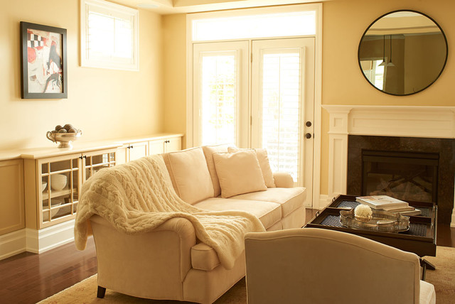Oakville Town Transitional Living Room Toronto By