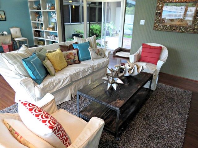 eclectic living room by Lisa Hallett Taylor