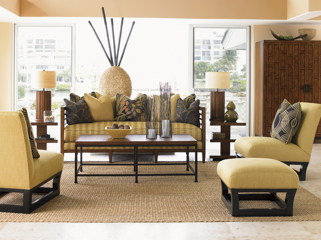 ocean club pan asian living room beach style living room orange county by tommy bahama home. Black Bedroom Furniture Sets. Home Design Ideas