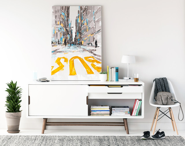 Ocean Sideboard - Look 2 - Scandinavian - Living Room - Montreal - by Structube