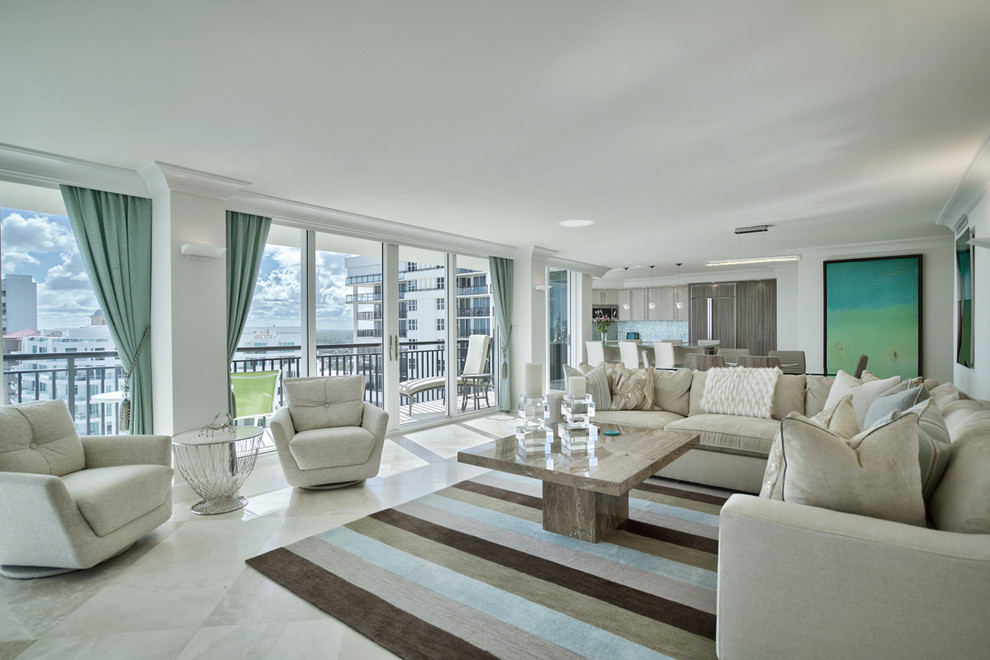 Inspiration for a contemporary living room remodel in Miami