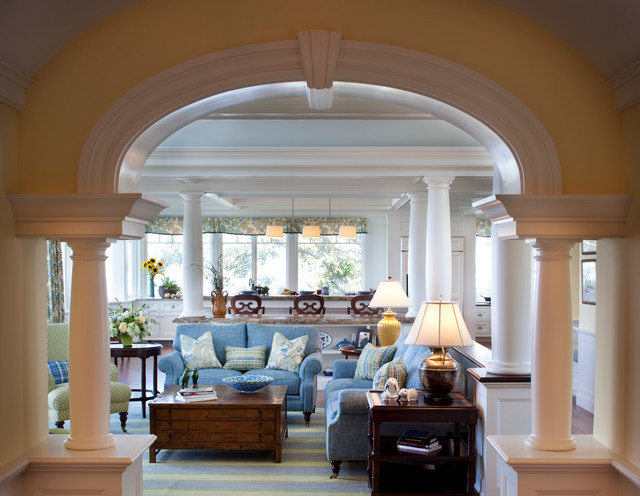 Oceanfront Estate traditional-living-room