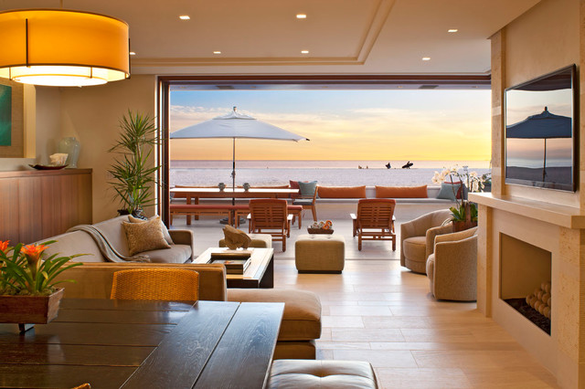 Oceanfront Beach Style Living Room Other By McRae Lambert