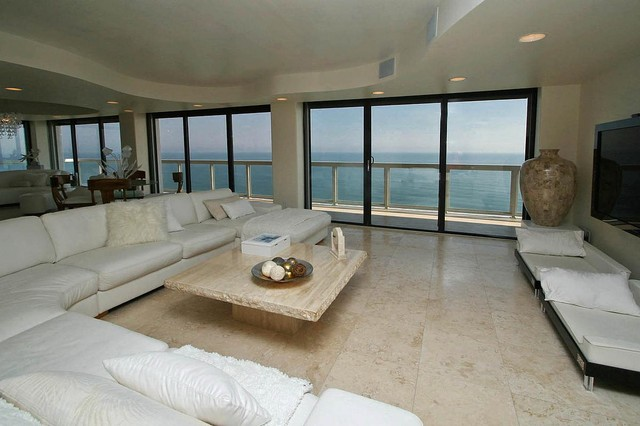 Oceanfront Penthouse contemporary-living-room