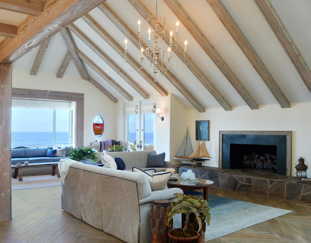 Oceanside beach style living room san diego by parker west interiors for The parkers tv show living room