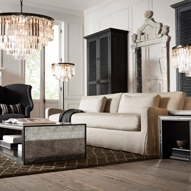 Great Restoration Hardware. October Traditional Living Room Part 11