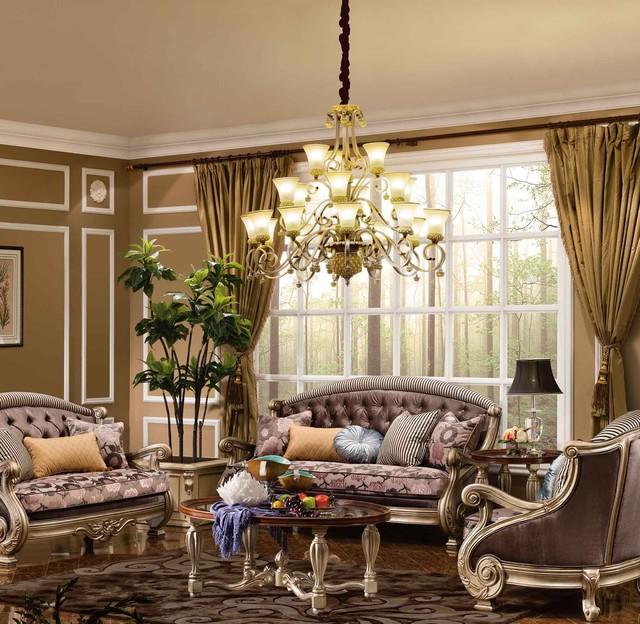 Odessa 5-pc Living Room Set - Traditional - Living Room ...