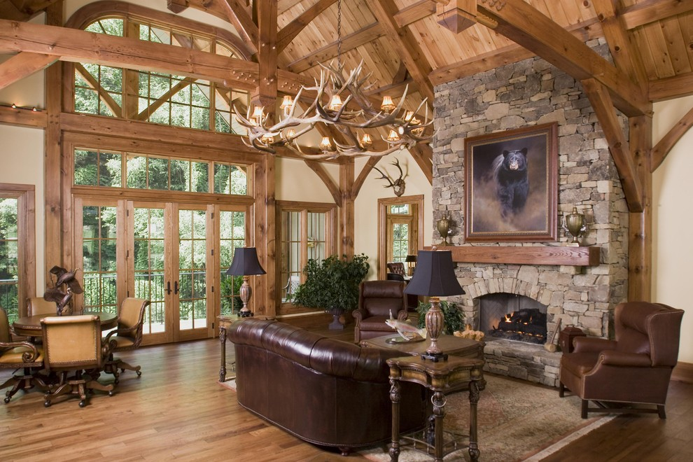 Office Building Traditional Living Room Philadelphia By Woodhouse Post Beam Homes