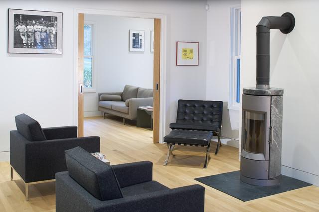 Ohio Victorian Renovation modern-living-room